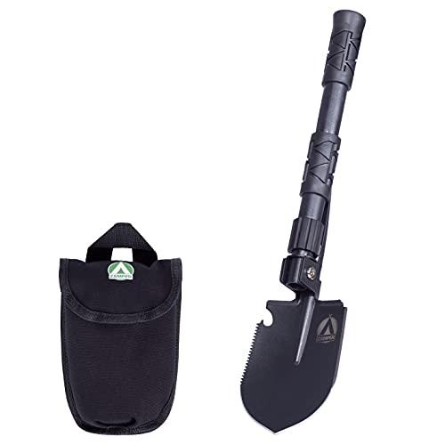 Zamper Klapp-Spaten Multifunktions-Werkzeug Kompakt - Camping Outdoor & Survival Gadget - Klapp-Schaufel mit Tasche