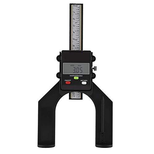 ZGQA-GQA Tratamiento de la madera Sierra de mesa Regla, 0,1 mm Profundidad Digital LCD Medidor del pie magnético de apertura de plástico del calibrador