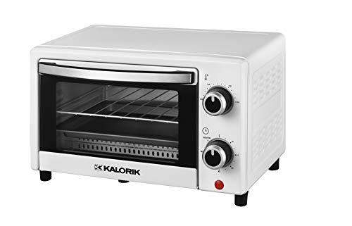 Team Kalorik TKG OT 2025 WH Horno pequeño de 9 litros hornear, parrilla y bandeja para migas, 900 W, Blanco