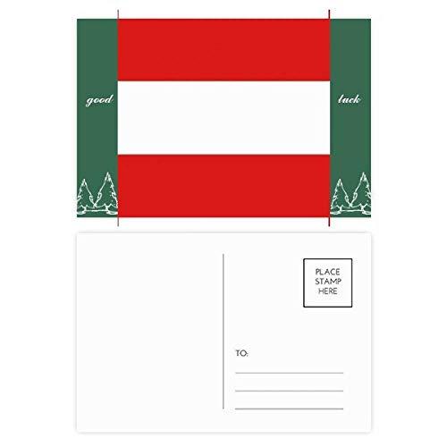 Oostenrijk Nationale Vlag Europa Land Veel Geluk Postkaart Set Kaart Mailing Zijde 20 stks
