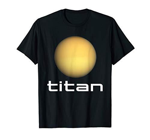 Sonnensystem Saturn Mond Titan Astronomie Weltraum T-Shirt