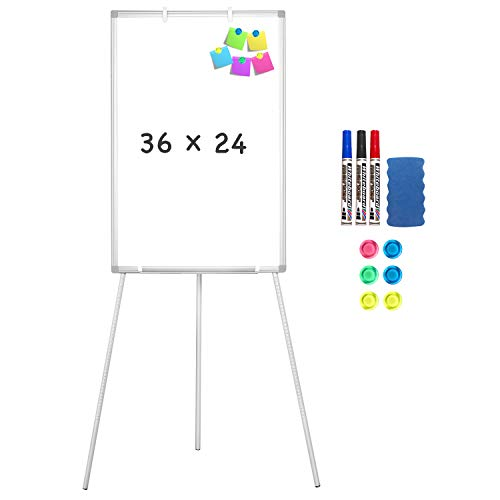 Easel Whiteboard - Magnetic Portable Dry Erase Easel Board 36 x 24 -