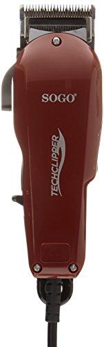 Sogo CPE-SS-3525-R - Set cortapelo profesional, color rojo