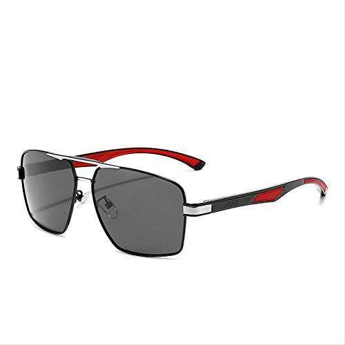 Paseo Gafas de sol Gafas de sol Polare Hombres Plaza Deportes Conducir Negro Ceniza Copos Negro y plata cajas