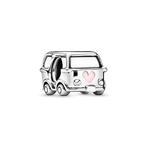 Annmors Camper Van Charms 925 Sterling Silver Retro Travel Car Bead para Pulseras