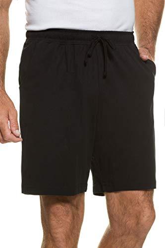 JP 1880 Herren große Größen Menswear L-8XL bis 8XL, Schlafanzug-Hose, Shorts, Kurze Pyjama-Hose, Jogging-Hose aus 100% Baumwolle, Sweatpants schwarz 6XL 708405 10-6XL