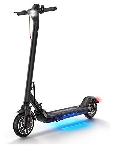 JSZHBC Los Scooters eléctricos Adultos Plegable Scooter E 25 kilometros de Largo Alcance de 8,5 '' Nido de Abeja a Prueba de explosiones de Neumáticos Scooter eléctrico con luz LED y Control App Safe
