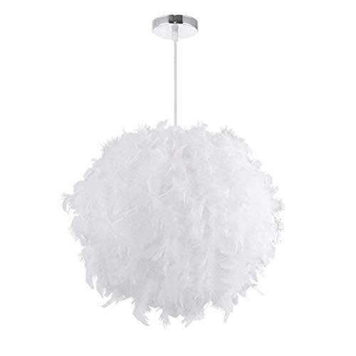 STOEX Lámpara Colgante Plumas 30 cm E27 40W Blanco