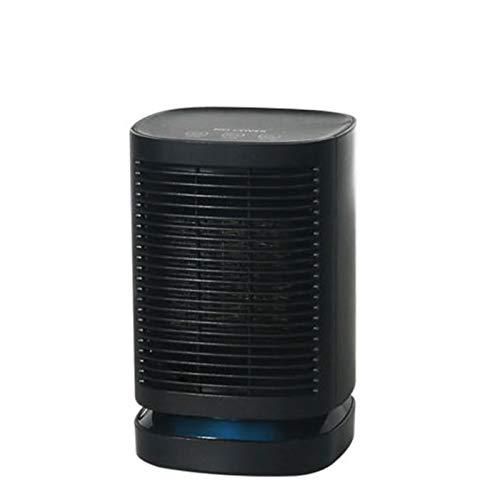 BEDSETS Calefactor Cerámico 900W Mini Ventilador De Calentacdor Eléctrico contra Sobrecalentamiento Y Protección contra Volcado para Oficinas Y Hogar (Black)