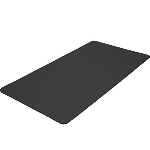 TecTake Tappetino Yoga Fitness Tappeto Aerobica Ginnastica Materassino - Disponibile in Diversi Colori e Misure - (Nero, 190x100x1.5cm)