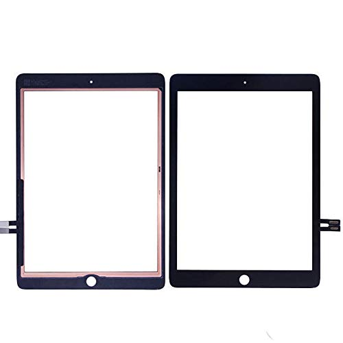 YCLM Replacement LCD Display Screen Touch Digitizer Assembly Compatible with iPad (6, Black)