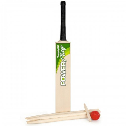 TY3804 M.Y Twenty20 Size 5 Wooden Cricket Set with Carry Bag Garden Game