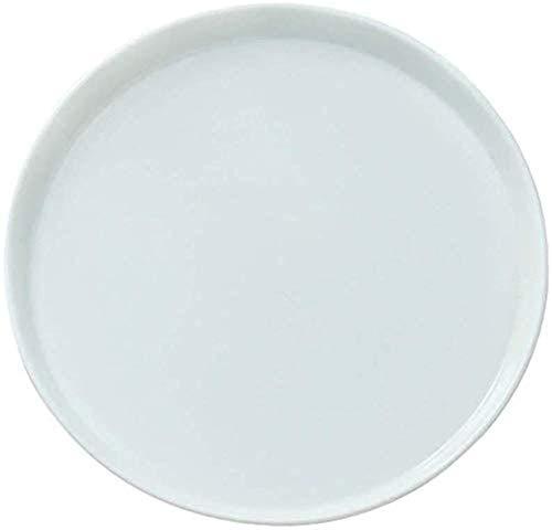 TREEECFCST Platos Vajilla Placas blancas pizza bandeja de pizza for la bandeja horno for pizza de 11 pulgadas pizza de plato de cerámica blanca pura molde de cocción de la torta Pasta Bandeja de horno