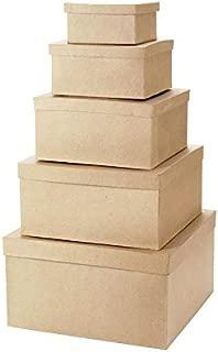 Darice Paper Mache Craft Boxes – 6