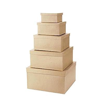 paper mache stackable boxes