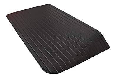 RK Safety RK-RTR05 Rise Solid Rubber Power Wheelchair Scooter Threshold Ramp (1 pcs, 35'' x 18'' x 3'')