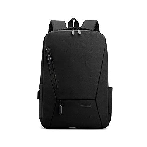 Kfhfhsdgsamsjb Mochila portátil para Hombres, 15.6 Pulgadas Slim Men Backpacks Bolsa de Negocio Mochila (Color : Black)
