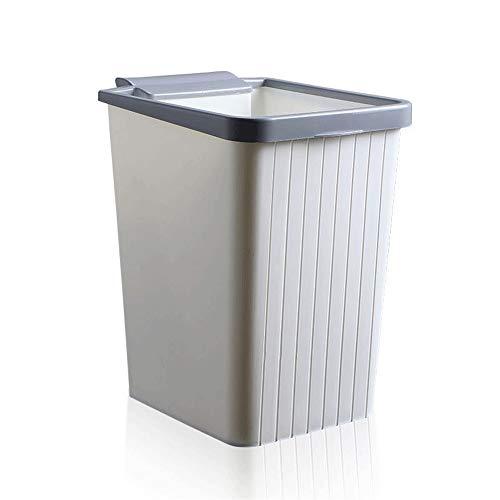 Lpiotyuljt Cubo Basura Reciclaje, Basura de plástico Cádel de baño Baño de baño Bin de Basura Bin de Sala de Estar Dormitorio Bardete sin Tapa de Estilo Europeo (Capacity : D)