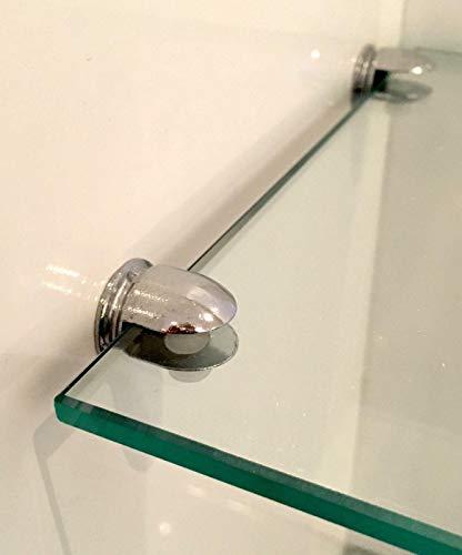 Euro Tische Regal-Halter Glasbodenträger - Stabile Regalträger für Glas- und Holzböden - (12 Stück)