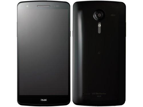 isai LGL22[LGL22SWA] ブラック 白ロム