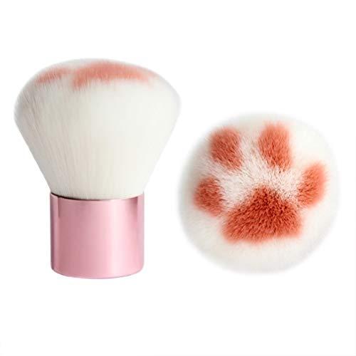 Le Pinceau de Maquillage de Patte de Griffe de Chat, Essentials composent Le Dessus Plat de Kabuki de Base de Brosse pour Le Polissage, pointillé, Cache-cernes
