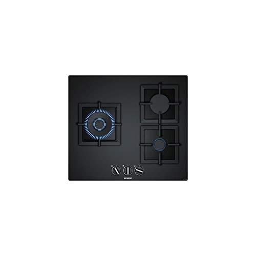 Siemens EP6A6CB20 - Placa de gas, 60Cm, 3 Quemadores, Cristal Negro