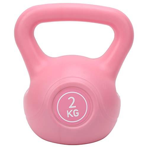Tbest Kettlebell, 2KG Kettlebell 2KG Fitness Kettlebell Armlifting Training Kettle Hantel mit breitem Griff