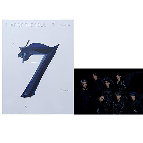 BANGTAN BOYS Map of The Soul : 7 BTS Album PreOrder (Version 2) CD+Official Poster+Photo Book+Lyric Book+Mini Book+Photocard+Postcard+Coloring Paper+Sticker
