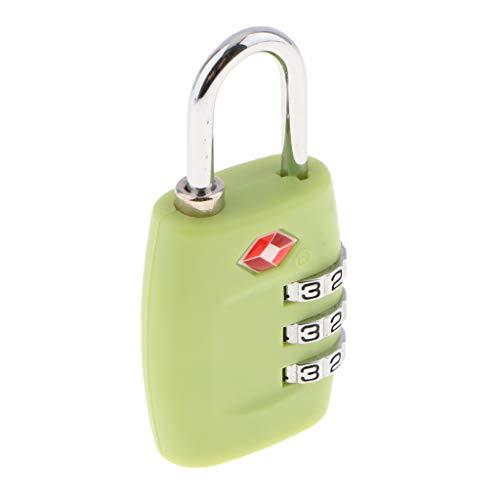 PETSOLA 3 Dial TSA335 Resettable Accepted Luggage Travel Lock Luggage Code Padlock - Green, as described