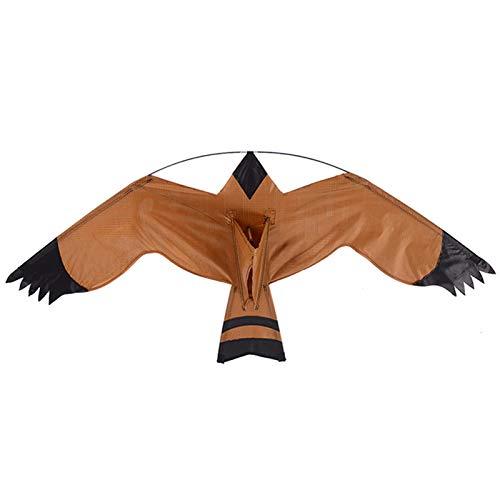 Repelente De Aves Cometa Espantapajaros Halcon, Cometa Voladora Repelente De Pájaros Realista Y Duradera, Espantapajaros Volador para Huerto Exterior para Protección Agricultura Jardinería (125x60cm)