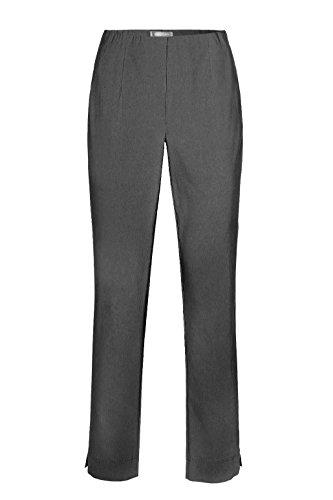 Stehmann - Stretchhose INA 740 - VIELE Farben - Mit EXTRA-Fashion Armreif -Gerade geschnittene Pull-On Hose mit Schlitz, Hosengröße:36, Farbe:Grau - Graphit