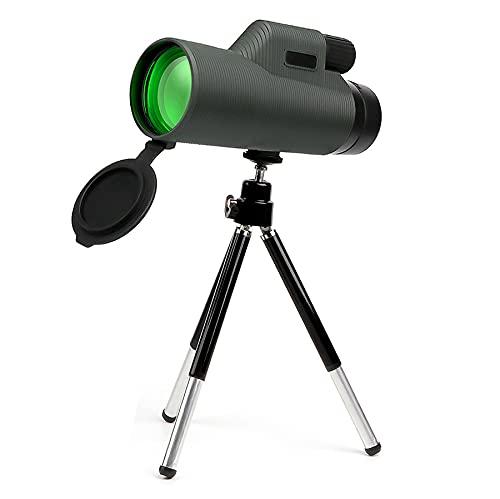 BUNUMO Telescopio Monocular, 18X62 HD Monoculares Impermeable con Soporte para Teléfono Inteligente y Trípode BAK4 Prisma para Vida Silvestre Observación de Aves Caza Camping Viajes