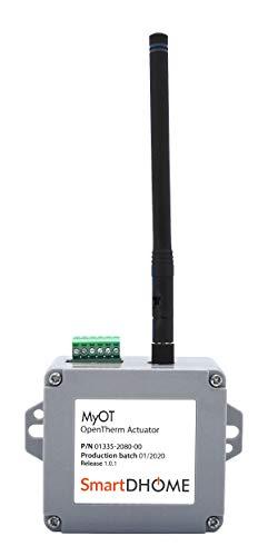 Actuador MyOT Z-Wave OpenTherm para conectar la caldera a la red, control del funcionamiento, aviso de bloqueo, mantenimiento predictivo, aplicación dedicada