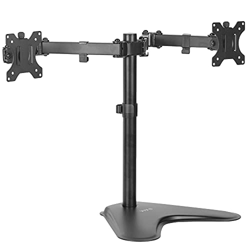 "Best Vivo Dual Adjustable Stand for Desk Screens 13"" to 27"""