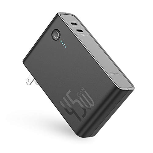 Baseus 2-in-1 45W USB-C Dual PD GaN Wall Charger and 10000mAh Power Bank $22.94