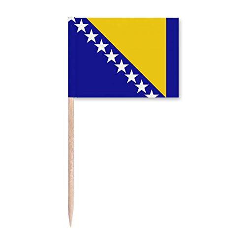 Bosnien & Herzegowina Nationalflagge Land Zahnstocher Flaggen Marker Topper Party Dekoration