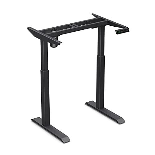 Worktrainer Escritorio de pie pequeño - StudyDesk (estructura negra, sin tablero)