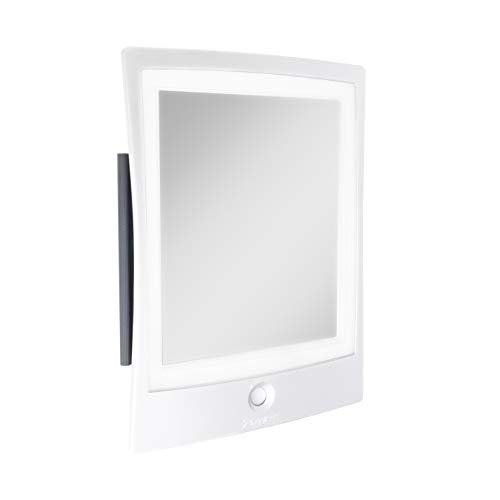 Zadro Rechargeable Led Lighted Fogless Shower Shaving Mirror, White, 1 Count (ZWTAR20W)