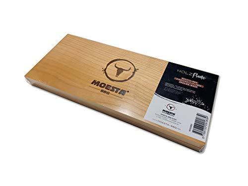 Moesta - 2 Tavolette per affumicare XXL in legno di ciliegio, riutilizzabili, senza corteccia, per barbecue a carbonella, elettrici, a gas e forni, BB