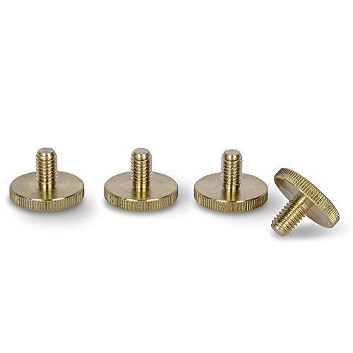PrecisionGeek - TORNILLOS DE PULSERA LATON M5 x 10 mm (16 mm de diámetro) Tornillos de agarre de mano (juego de 4)