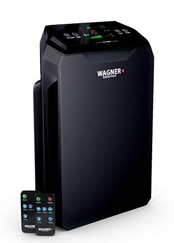 WAGNER Suiza purificador de aire WA777 HEPA-13 Filtro de grado médico, sensor de partículas para habitaciones de 500 pies cuadrados....