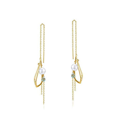 GGDGENJN Frauen Anhänger, Ohrringe, Einfache Und Elegante Multifunktions S925 Sterlingsilber Perlen Ohrringe, Jahrestag