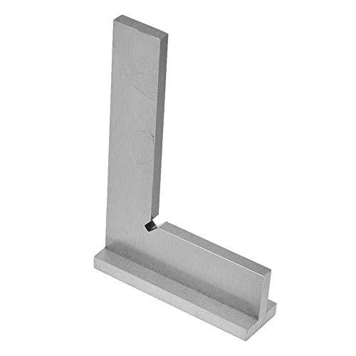 FAMKIT - Righello angolare in acciaio INOX ad alta precisione, 90 gradi con sedile (150 x 100 mm)