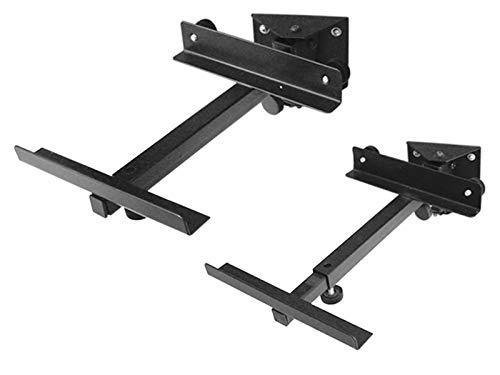 DRALL INSTRUMENTS 2 Stück (1 Paar) Lautsprecher Wandhalter - bis 15kg belastbar - Lautsprecherhalter für Hifi Heimkino Boxen - neigbar schwenkbar kippbar - Wandmontage Befestigung schwarz Modell: BH2B