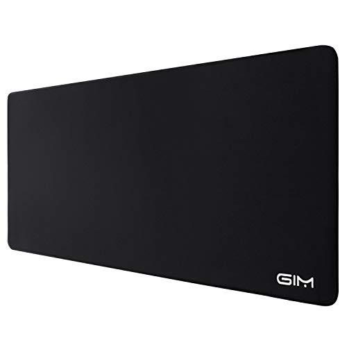 GIM Estese Mouse Pad, Mouse Pad Grande Taglia 3 mm di Spessore Impermeabile Tappetino Mouse da Gioco Largo Lungo Funzionale Antiscivolo (30,7 x 11,8 x 0,12 Pollici) -Luxury Nero