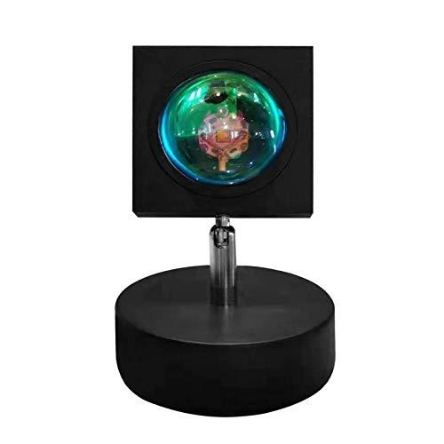 EEOO Lámpara de pie de proyección de puesta de sol, lámpara de proyector de arco iris, rotación de 180 grados, USB, romántica, luz nocturna para dormitorio, sala de estar, fiesta, bar