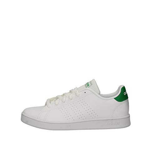 adidas Advantage K, Scarpe da Tennis Unisex-Bambini, Multicolore Ftwbla Verde Gridos 000, 30 EU