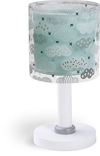Dalber Kinder Tischlampe Wolken Clouds, Plastik, 220 W, Grün Mint, 15 x 15 x 30 cm
