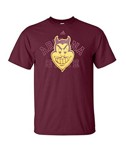 adidas Arizona State Sun Devils marrón Bordes doblados Camiseta, Arizona State Sun Devils, Granate ✅
