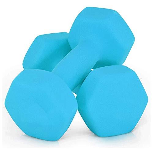 Shengluu Mancuerna Home Fitness Brazo Pesos de Mano Pilates Pewards Set (Color : Blue, Talla : 3KGx2)
